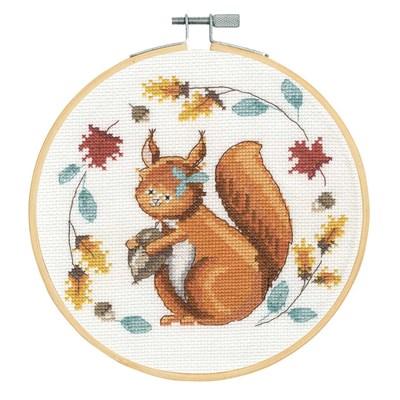 Un écureuil si mignon kit au point de croix compté - DMC