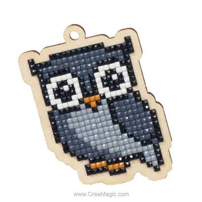 Broderie diamant grey owl de Wizardi