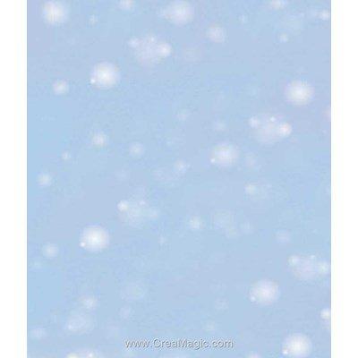 Toile aida 5.5 pts imprimée neige bleu de Brod'star