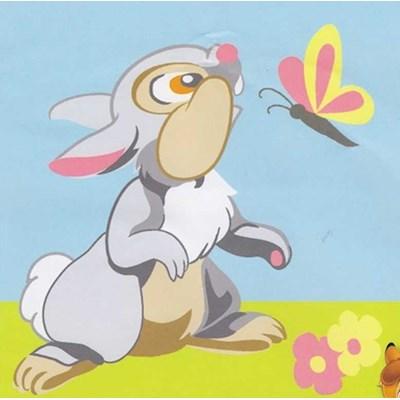 Kit canevas DMC pour enfants panpan - bambi- disney