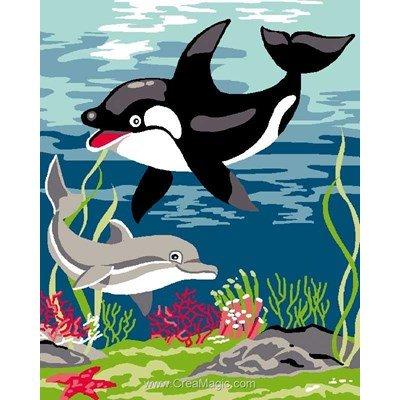 Kit canevas jeu de dauphin - Luc Création