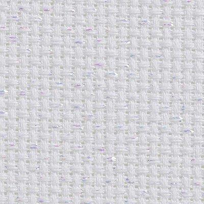 Toile aida 5.5 pts blanc irisée vierge à broder - DMC