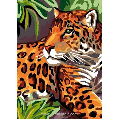 Canevas léopard à l'affût - Luc Création