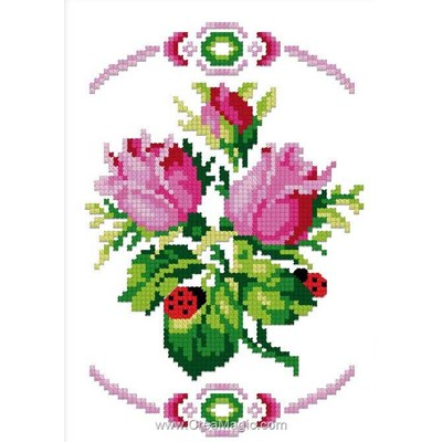 Les roses mini point de croix en kit - Luc Création