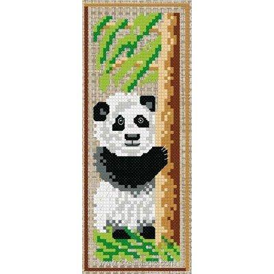 Marque pages panda à broder Luc Création