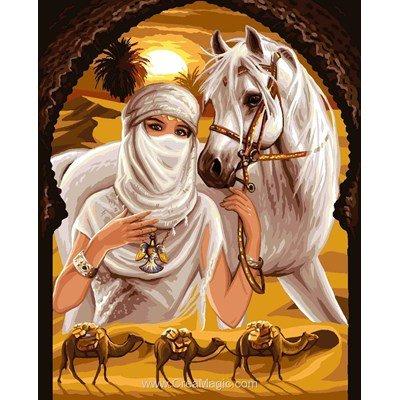 La princesse du désert et son cheval canevas chez Rafael Angelot