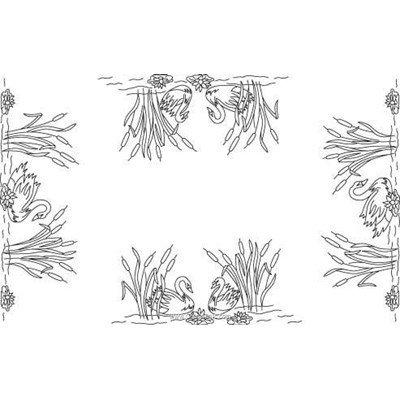 Kit napperon à broder roseaux en broderie traditionnelle imprimée - Luc Création NPR392