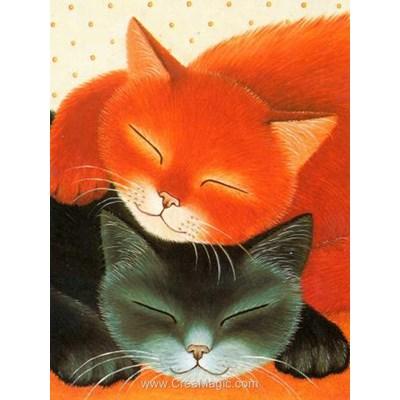 Broderie diamant sleeping cats - Diamond Painting