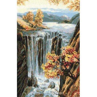 Le point de croix cascade d'automne - RIOLIS