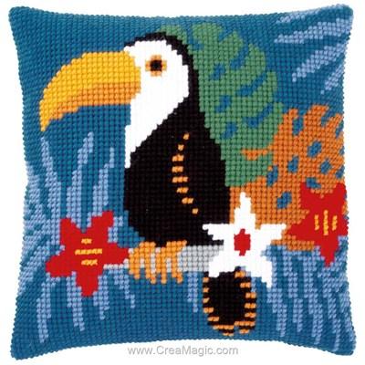 Coussin toucan au point de croix - Vervaco