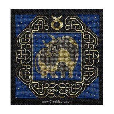 Le taureau broderie point de croix - RIOLIS