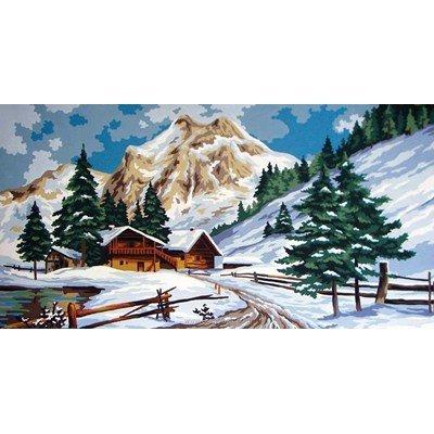 Collection d'art canevas scène d'hiver