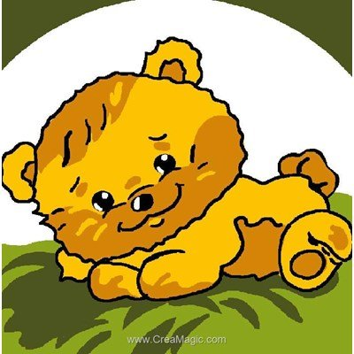 Kit canevas Luc Création pour enfants le chiot se repose
