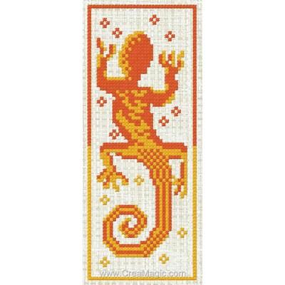 Marque page à broder salamandre - Luc Création