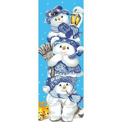 Luc Création canevas 3 bonhommes de neige