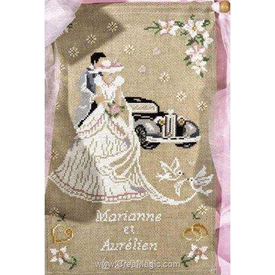 Kit bannière à broder mariage - Princesse