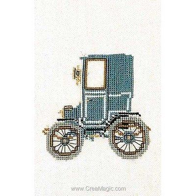Renault 1898 sur lin broderie au point compté - Thea Gouverneur