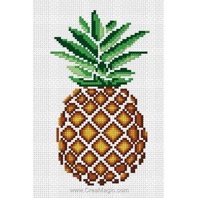 Mini kit au point de croix l'ananas - Luc Création