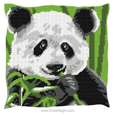 Coussin au demi point panda de Luc Création