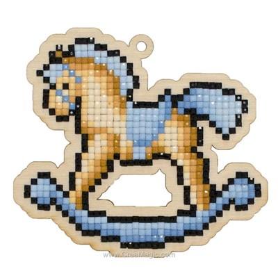 Kit broderie diamant rocking horse de Wizardi