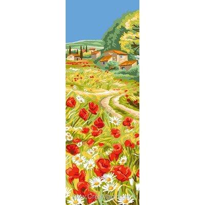 Canevas le chemin de coquelicots - Luc Création