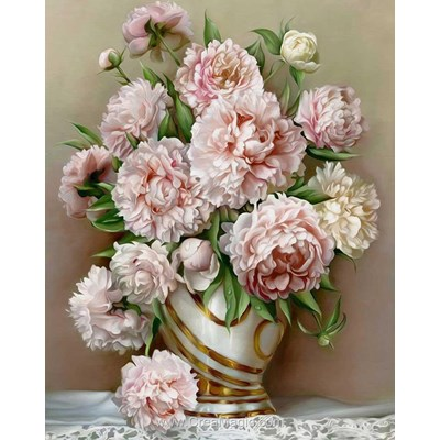 Kit broderie diamant beautiful peonies - Diamond Painting
