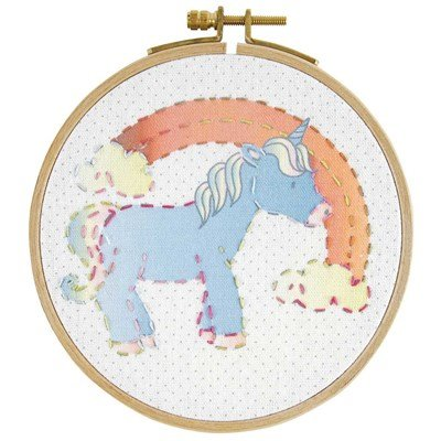 Kit de broderie traditionnelle petite licorne - DMC
