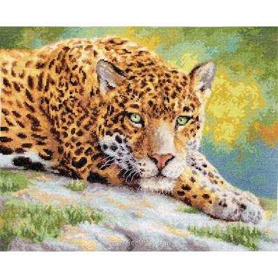 Broderie au point de croix LETISTITCH peaceful jaguar