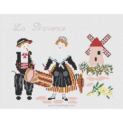 Broderie imprimée en kit costumes traditionnels de provence - Marie Coeur