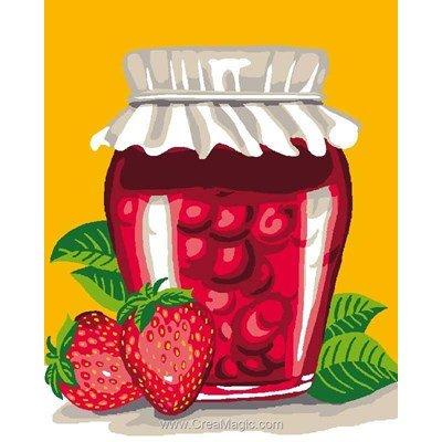 Kit canevas Luc Création confiture de fraise
