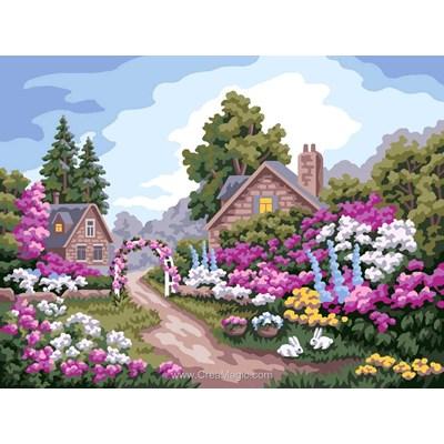 Canevas le jardin aux milles fleurs - Collection d'art