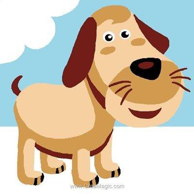 Kit canevas Luc Création pour enfants chien beige