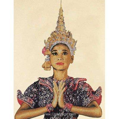 Kit Thea Gouverneur à broder thai lady sur aida