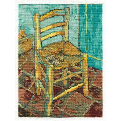 Kit broderie de DMC au point de croix van gogh's chair national gallery