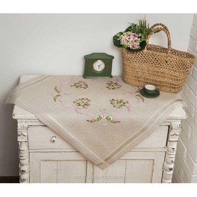 Kit nappe bouquet noué en broderie traditionnelle - Duftin 14611-AZ0047