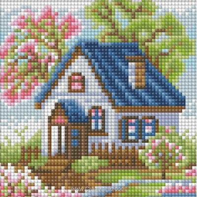 Broderie diamant Diamond Painting spring house - Diamond Painting