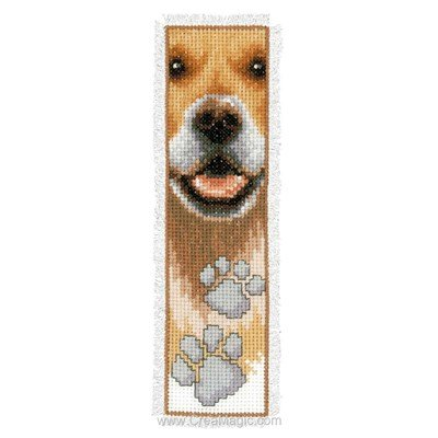 Marque-page mon ami le chien à broder - Vervaco