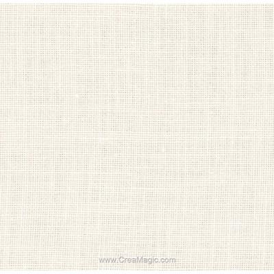 Toile lin edinburgh 14 fils blanc cassé (101) de Zweigart
