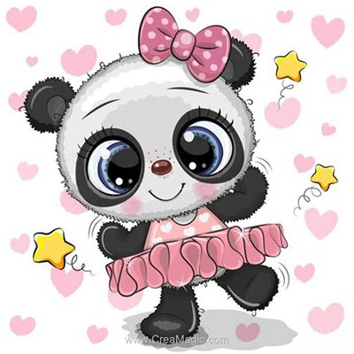 Broderie diamant Wizardi panda ballerine