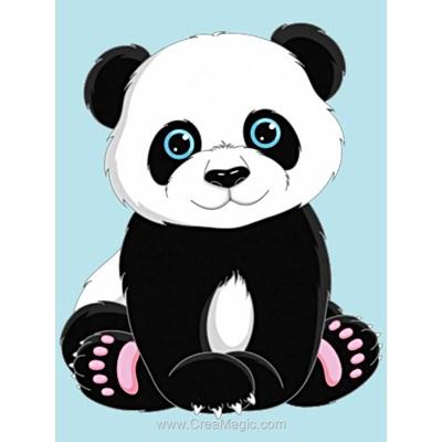 Kit broderie diamant panda - Wizardi