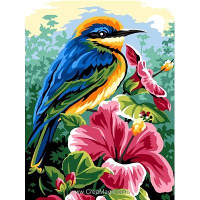 Margot canevas oiseau exotique