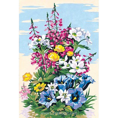 SEG canevas fleurs des montagnes
