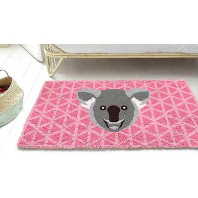 Tapis point noue Smyrnalaine koala mosaique