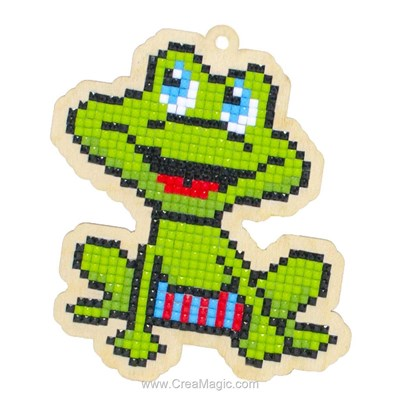 Broderie diamant happy frog - Wizardi