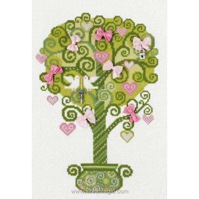 L'arbre de la joie broderie au point de croix - RIOLIS