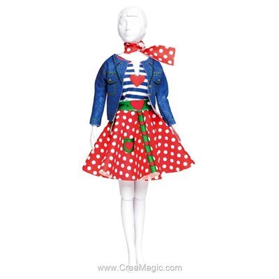 Set couture lucy polka dots DRESS YOUR DOLL pour barbie