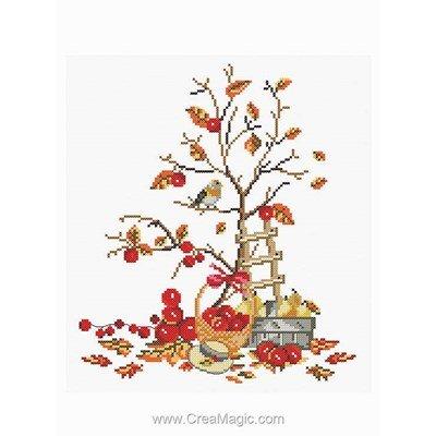 Kit Princesse à broder au point de croix fruits d'automne