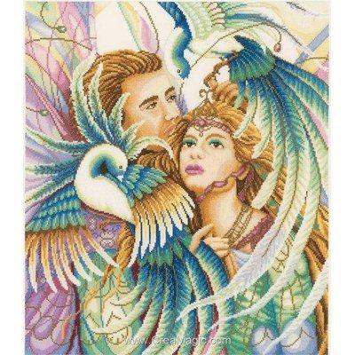 Birds of paradise - etamine kit broderie - Lanarte
