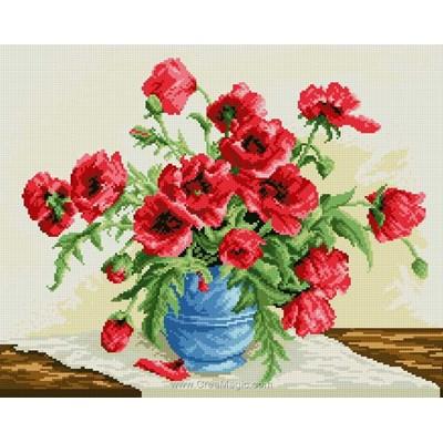 Kit broderie diamant red poppies de Diamond Painting