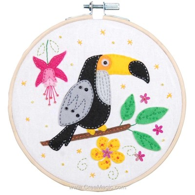 Kit feutrine toucan - Vervaco